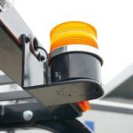 LED lighting is available as an option. The test truck is equipped with a flashing light that you can use both magnetic hanging or standing.