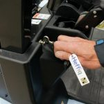 For the release of the hood use the hook that hangs on the ignition key. This forces you to first switch off the engine.